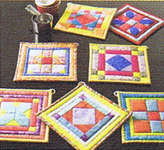 Click for more details of 101 Fun to Quilt Pot Holders (patchwork and quilting pattern) by American School of Needlework