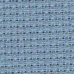 Click for more details of 14 count Aida Misty Blue (fabric) by Zweigart Fabrics