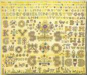 Click for more details of 1761 Sampler (cross stitch) by Permin of Copenhagen