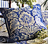 Click for more details of 18th Century Damask - Blue (tapestry kit) by Glorafilia