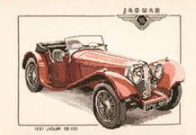 Click for more details of 1937 Jaguar SS 100 (cross-stitch kit) by Dave Shaw