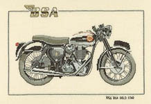 Click for more details of 1956 BSA Gold Star (cross-stitch kit) by Dave Shaw