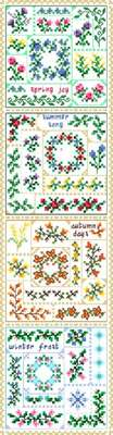 Click for more details of 4 Seasons Quilt Squares (cross-stitch) by Designs by Cathy
