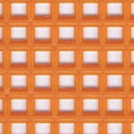 Click for more details of 7 Mesh Plastic Canvas Orange (fabric) by Darice