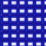 Click for more details of 7 Mesh Plastic Canvas Royal Blue (fabric) by Darice