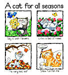 Click for more details of A Cat for all Seasons (cross-stitch kit) by Peter Underhill