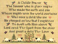 Click for more details of A Child's Prayer (cross-stitch pattern) by With my Needle