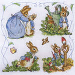Click for more details of A Day in the Life of Peter Rabbit (cross-stitch kit) by Anchor
