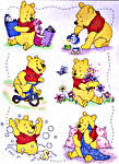 Click for more details of A Day in the Life of Winnie the Pooh (cross-stitch kit) by Disney by Anchor