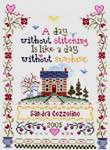 Click for more details of A Day Without Stitching (cross stitch) by Imaginating