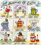 Click for more details of A Dictionary of Coffee (cross-stitch kit) by Bothy Threads