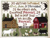 Click for more details of A Farmer's Almanac (cross-stitch) by The Prairie Schooler