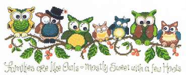Click for more details of A Few Hoots (cross stitch) by Imaginating