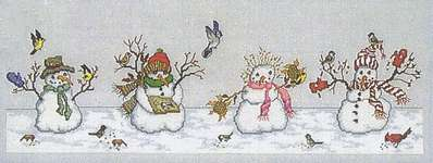 Click for more details of A Frosty Feast (cross stitch) by Crossed Wing Collection