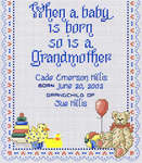 Click for more details of A Grandmother's Love (cross-stitch pattern) by Sue Hillis Designs