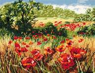 Click for more details of A Host of Poppies (tapestry) by Anchor