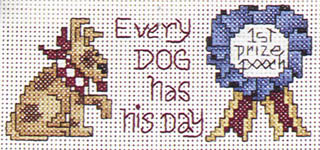 Click for more details of A Little Bit of Bow-Wows (cross stitch) by Alma Lynne