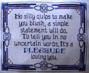 Click for more details of A Love Note (cross-stitch pattern) by Designs by Lisa