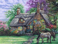 Click for more details of A Perfect Summer Day (cross-stitch kit) by Thomas Kinkade