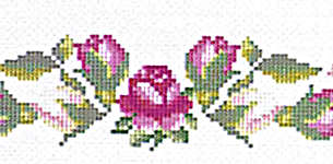 Click for more details of A Table of Roses (cross-stitch pattern) by Linen Flowers