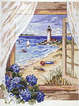 Click for more details of A View from the Window (cross-stitch kit) by Janlynn