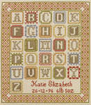 Click for more details of ABC Birth Sampler (cross-stitch kit) by The Historical Sampler Company