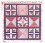 Click for more details of Abe & Mary Lincoln's Quilt Sampler (cross stitch) by Rosewood Manor
