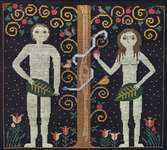 Click for more details of Adam and Eve (cross stitch) by Carriage House Samplings