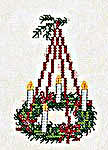 Click for more details of Advent Wreath Card (cross-stitch kit) by Eva Rosenstand