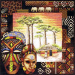 Click for more details of African Ambience (cross-stitch kit) by Royal Paris
