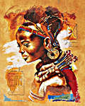 Click for more details of African Woman (cross-stitch kit) by Lanarte