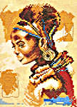 Click for more details of African Woman - small (cross-stitch kit) by Lanarte