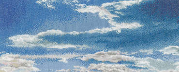 Click for more details of Afternoon Sky with Cirrus Clouds (cross stitch) by Thea Gouverneur