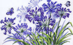 Click for more details of Agapanthus (cross stitch) by Permin of Copenhagen
