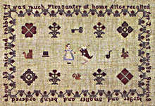 Click for more details of Alice's Lament (cross-stitch pattern) by Willow Hill Samplings