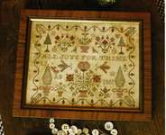 Click for more details of All Joys for Thine (cross stitch) by Blackbird Designs