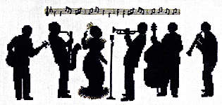 Click for more details of All That Jazz (cross-stitch kit) by Classic Embroidery
