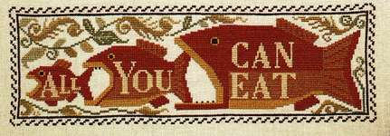 Click for more details of All You Can Eat (cross stitch) by The Prairie Schooler
