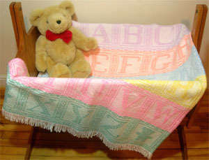 Click for more details of Alphabet Afghan (swedish weaving) by Swedish Weave Designs