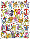 Click for more details of Alphabet Fun (cross-stitch kit) by Bothy Threads