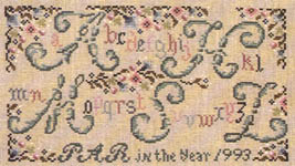 Click for more details of Alphabet Garden Sampler (cross stitch) by Pat Rogers