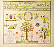 Click for more details of Altes Land 1828 Sampler (cross-stitch) by Permin of Copenhagen