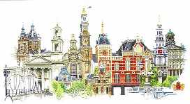 Click for more details of Amsterdam (cross-stitch) by Thea Gouverneur