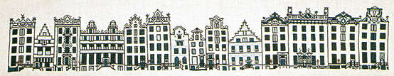 Click for more details of Amsterdam Street (cross-stitch kit) by Thea Gouverneur