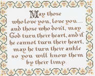 Click for more details of An Irish Prayer (cross stitch) by Homespun Samplar