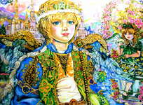 Click for more details of Angel Joffee L and a shrine. (limited edition print) by Yumi Sugai