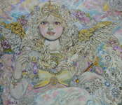Angel of the golden pearl. - print
