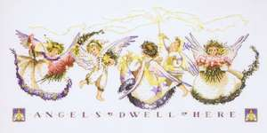 Click for more details of Angel Proclamation (cross stitch) by Mirabilia Designs