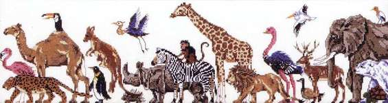 Click for more details of Animal Kingdom (cross-stitch pattern) by Annie's Attic