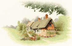 Click for more details of Anne Hathaway's Cottage (cross-stitch pattern) by John Clayton